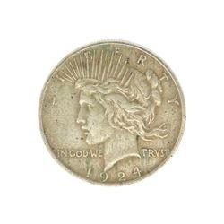 Rare 1924 U.S. Peace Type Silver Dollar