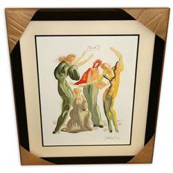 Salvador Dali (After) 'La Danse' Museum Framed & Matted Print