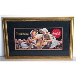 Museum Framed Coca-Coca Advertising  10.5x19.5