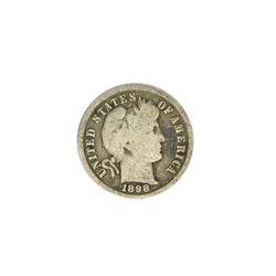 1898 Barber Head Dime Coin