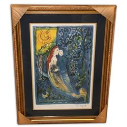 Marc Chagall (After) 'The Wedding' Museum Framed & Matted Print