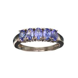 APP: 1.1k Fine Jewelry 1.15CT Oval Cut Tanzanite And Sterling Silver Ring