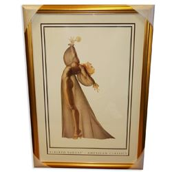 Alberto Vargas (Nude) Exquisitely Museum Framed & Matted Print