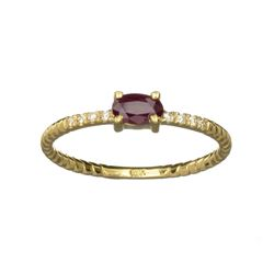 APP: 0.6k Fine Jewelry 14 KT Gold, 0.31CT Ruby And Diamond Ring