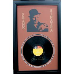 Sinatra Engraved Record and Laser Cut Mat