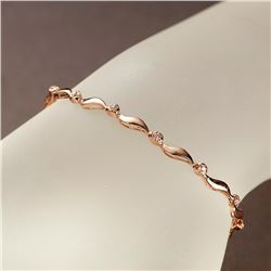 APP: 2.2k *Fine Jewelry 14KT Rose Gold, 0.15CT Round Brilliant Cut Diamond Bracelet (VGN A-306) (Vau