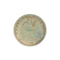 1865-S Liberty Seated Half Dollar Coin