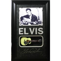Elvis Engraved with Mini Guitar