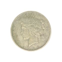 Rare 1925 U.S. Peace Type Silver Dollar