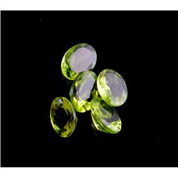 APP: 1.1k 5.48CT Oval Cut Green Peridot Parcel