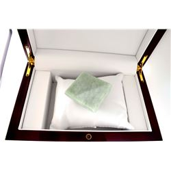 APP: 7.8k 647.50CT Square Cut Light Green Jade Gemstone