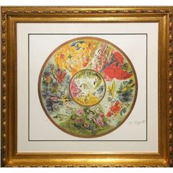 Marc Chagall (After) 'Paris Opera' Museum Framed & Matted Print
