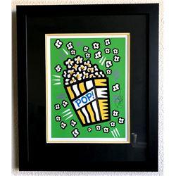 Burton Morris - ''''Popcorn'''' Green Framed Giclee Original Signature