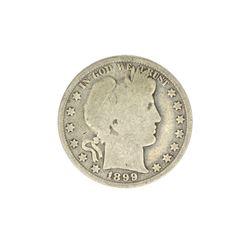 1899 Barber Head Half Dollar Coin