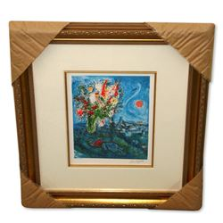Chagall (After) 'La Dormeuse Aux Fleurs' Framed Giclee-Ltd Edn