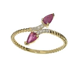 APP: 0.8k Fine Jewelry 14 KT Gold, 0.53CT Ruby And Diamond Ring