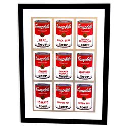 Andy Warhol (After) Museum Framed Print Campbell's  Soup Cans