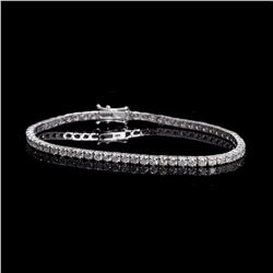 APP: 11.6k *Fine Jewelry 18 kt. White Gold, 5.03CT Round Brilliant Cut Diamond Tennis Bracelet (VGN