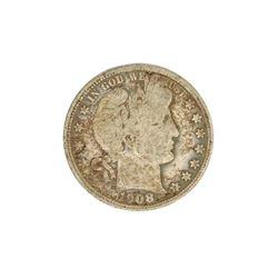 1908 Barber Head Half Dollar Coin