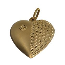 Exquisite 14 kt. Gold, Puffed Heart Pendant