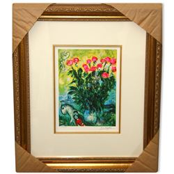 Chagall (After) 'Les Roses' Museum Framed Giclee-Ltd Edn