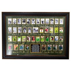 Very Rare Plate Signed Masters Golf Champions With Cards