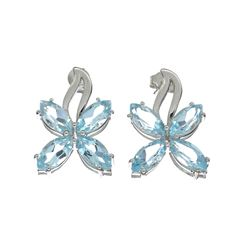 APP: 0.4k 9.08CT Marquise Cut Topaz Sterling Silver Earrings