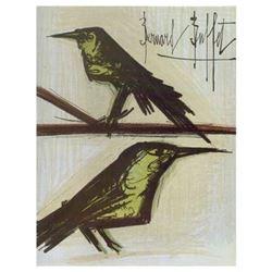 Bernard Buffet Lithograph ''''Deux Oiseaux'''' 18 x 24 Paper Image
