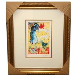 Chagall (After) 'Lovers & Daisies' Museum Framed Giclee-Ltd Edn