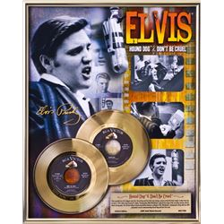 ELVIS PRESLEY ''Hound Dog/Don't Be Cruel'' Gold 45's