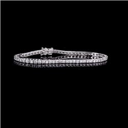 APP: 6.5k *Fine Jewelry 18 kt. White Gold, Custom Made 3.02CT Round Brilliant Cut Diamond Tennis Bra