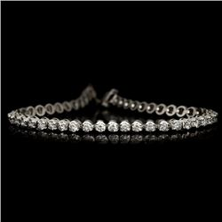 APP: 7k *Fine Jewelry 14KT White Gold, 3.00CT Round Brilliant Cut Diamond Bracelet (VGN A-38) (Vault
