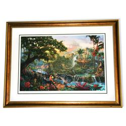 Rare Thomas Kinkade Original Ltd Edt Numbered Lithograph Plate Signed Framed ''Jungle Book''