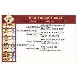 Lot - 31 - RED TRILOGY 8013