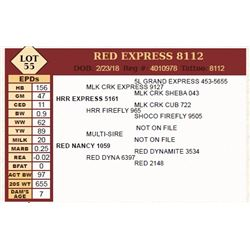 Lot - 55 - RED EXPRESS 8112