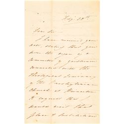 1848 HENRY CLAY SR. Three Page Autograph Letter Signed