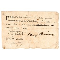 1783 Founding Father BENJAMIN HARRISON + Declaration of Independence Signer