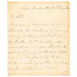 1768 Governor of New York + Major Gen. ROBERT MONCKTON Autograph Letter Signed
