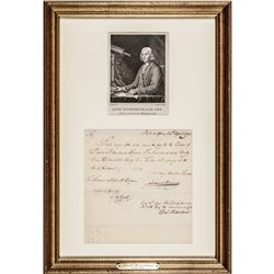 1795 DAVID RITTENHOUSE Autographed Manuscript Document Signed