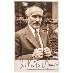 Famous Italian Conductor ARTURO TOSCANINI Signed Photo Postcard