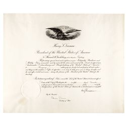 1950 President HARRY S. TRUMAN Autograph Document Signed
