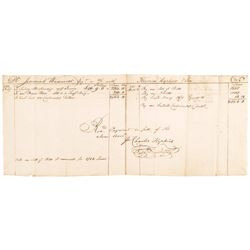 1781 Dr. JEREMIAH WADSWORTH Revolutionary War Accounting Receipt