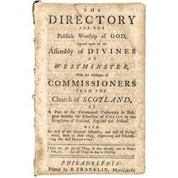 1745 BENJAMIN FRANKLIN Historic Religious Imprint, PHILADELPHIA