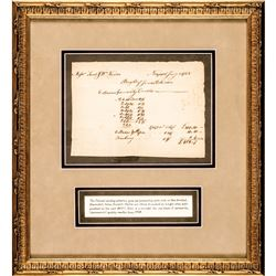 1768 Colonial RI. Whale Oil Manuscript Shipping Receipt, Samuel + William Vernon