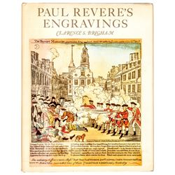PAUL REVERES ENGRAVINGS, The Reference Book 1969, Clarence S. Brigham, ATHENEUM