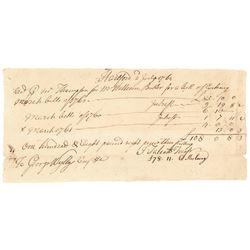 1760-62 Colonial Connecticut Treasury Purchase of Bills of Exchanged in 1764