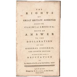 1776 Book: The Rights of Great Britain Asserted Against the Claims of America