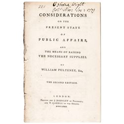 1779 Conciliatory Bill Offering American Colonies Dominion Status to Congress