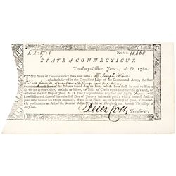 June 1780 Revolutionary War Continental Army Service Connecticut Pay Order Mint
