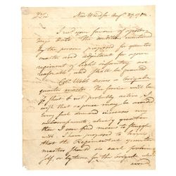 1782 TIMOTHY PICKERING, Signed Revolutionary War Autograph Letter